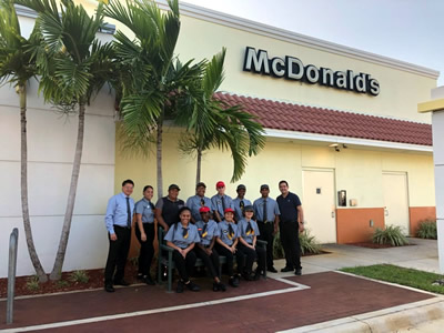 """B""ing The Best is a McDonald's Restaurant franchisee comprised of 30 restaurants from Ft. Pierce in St. Lucie County to Boca Raton in Palm Beach County."